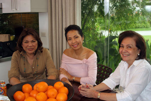 Beth Romualdez, Minnie Jentes and Marilou Senn of La Tasca